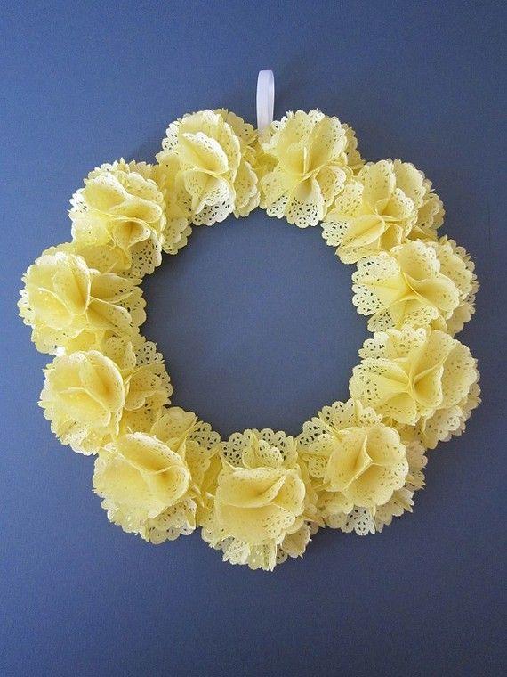 Doily Wreath :: Myhaleygirl Etsy, #wreath #doily