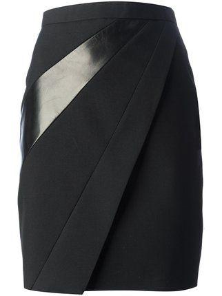Saint Laurent panelled pencil skirt