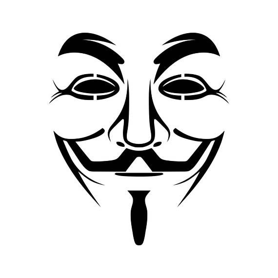 Guy Fawkes Mask Anonymous Graphics SVG Dxf EPS Png Cdr Ai Pdf Vector Art Clipart instant download Di