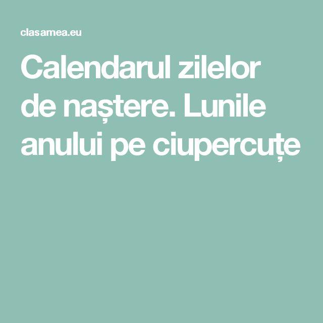 Calendarul zilelor de naștere. Lunile anului pe ciupercuțe