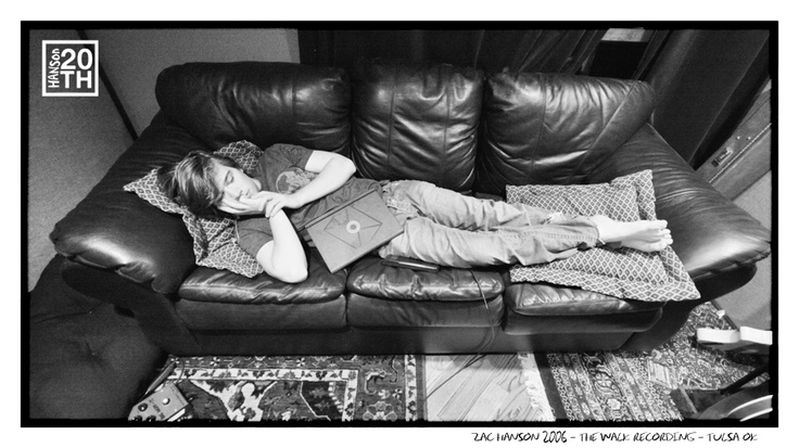 Photo 64 of 365  Zac Hanson 2006 - The Walk Recording - Tulsa OK    Zac is known for his ability to sleep through loud noise. What would be your method of choice to wake a sleeping Zac?    #Hanson #Hanson20th