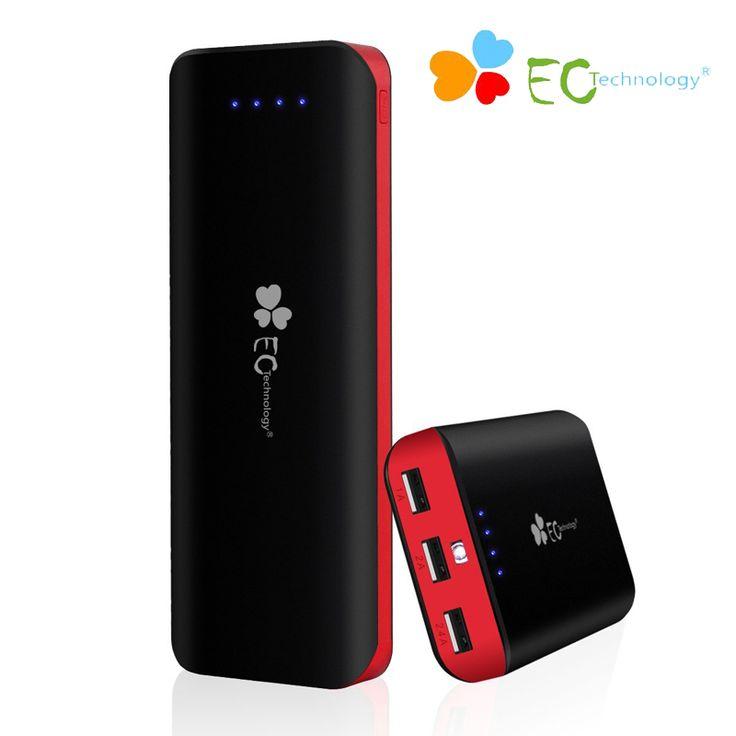 Power bank draagbare oplader ec technologie universele mi powerbank 16000 mah externe batterij bank 3 usb voor smartphones