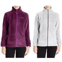 Columbia WL6439 Women's Gray Benton Springs Full Zip Soft Fleece Jacket, 1372111