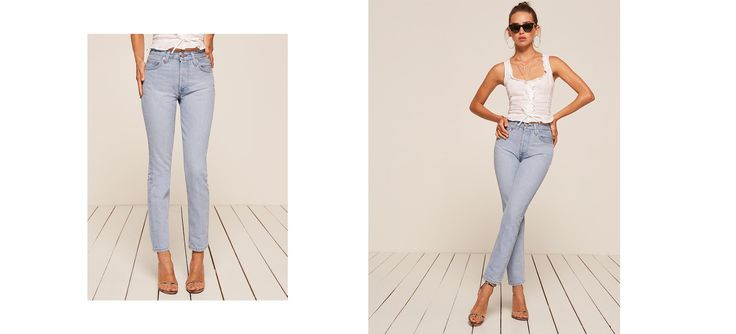 Denim - your uniform since forever. This is a high rise jean with a slightly cropped, skinny leg and back seam detail.