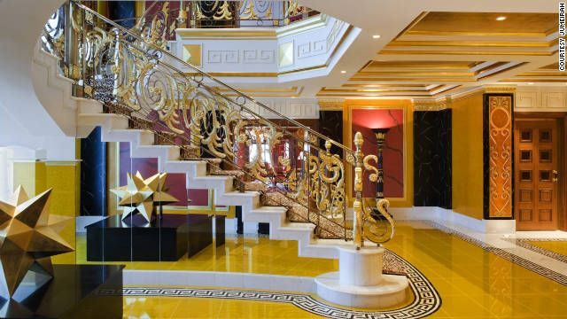 A stay at the Burj Al Arab in Dubai -suite will cost only about 18,000 a night.