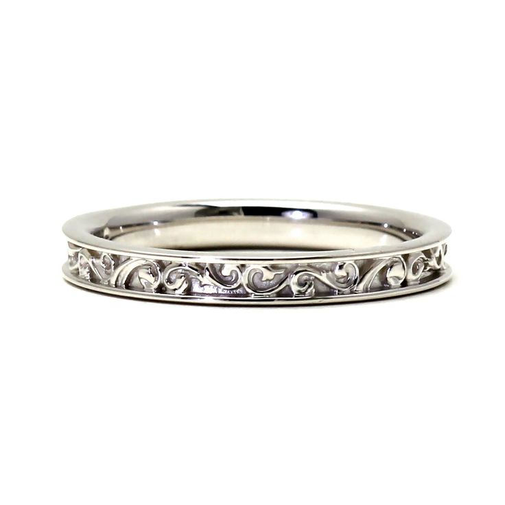 14K Filigree Wedding Band for Vintage Art Nouveau and by RareEarth, $355.00