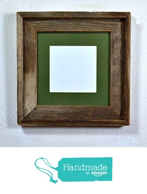 5x5 or 6x6 mat in a gorgeous 8x8 upcycled wood frame from barnwood4u squareframe