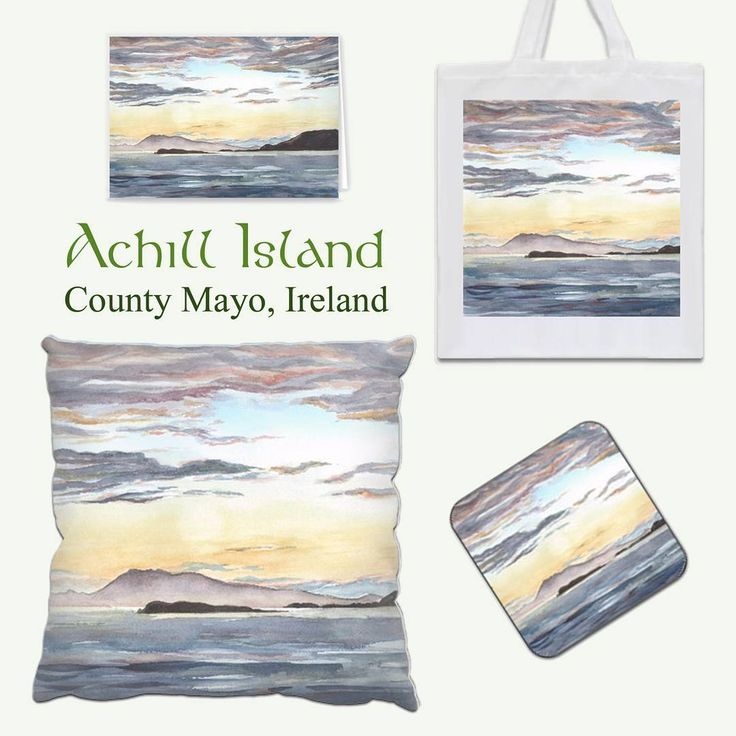 My Achill Island painting is available on a range of printed gifts from @Zippi  Please take a look to see the whole range of items available:  https://www.zippi.co.uk/portfolio/suzannehole/achill-island-sunset  #art #zippi #gifts #giftware #homeware #achillisland #sunset #mayo #ireland #irish #wildatlanticway