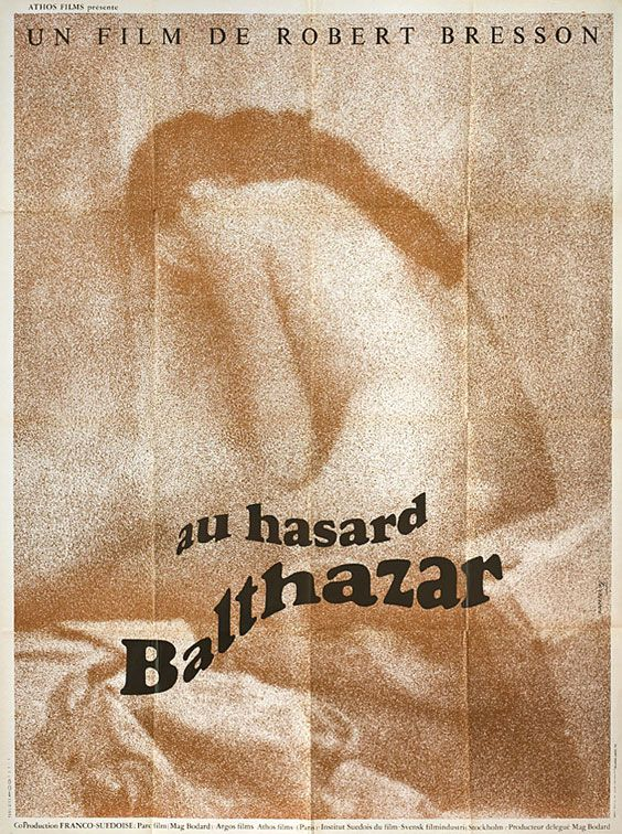 Ferracci poster for Robert Bresson's Au hasard Balthazar (1966)