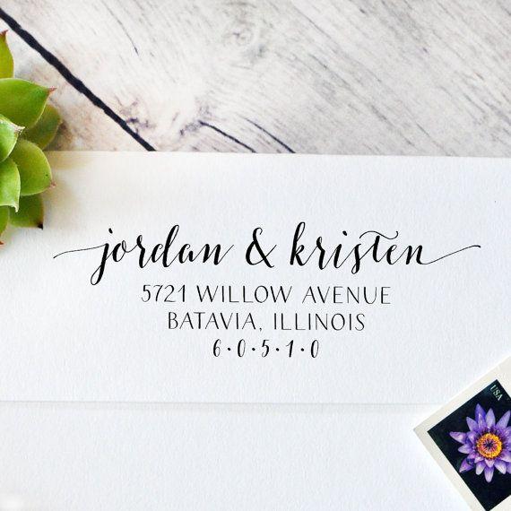 Self Inking Return Address Stamp Wedding by IntricutCreations