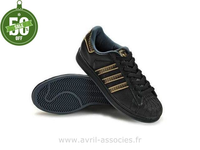 Adidas Noir Et Or Femme