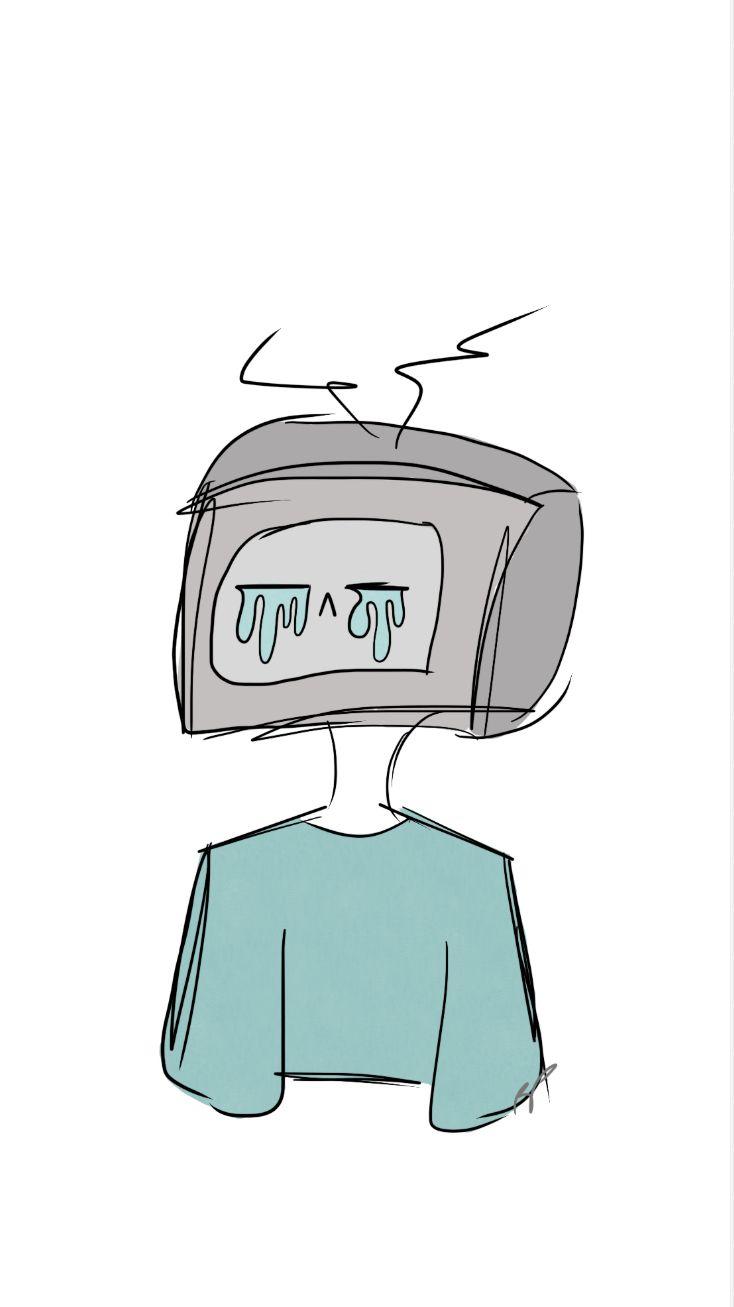Tv Head Tv Head First Tv Aesthetic Art