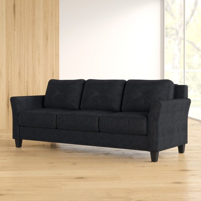 Ibiza Microfiber 80 3 Flared Arm Sofa With Images Sofa Zipcode Design Furniture