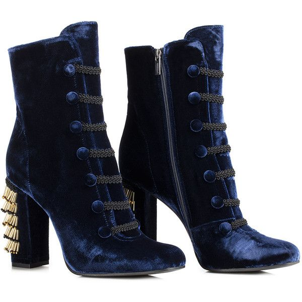 CARTER ANKLE BOOT ❤ liked on Polyvore featuring shoes, boots, ankle booties, navy blue ankle boots, ankle bootie boots, short boots, navy blue bootie and bootie boots