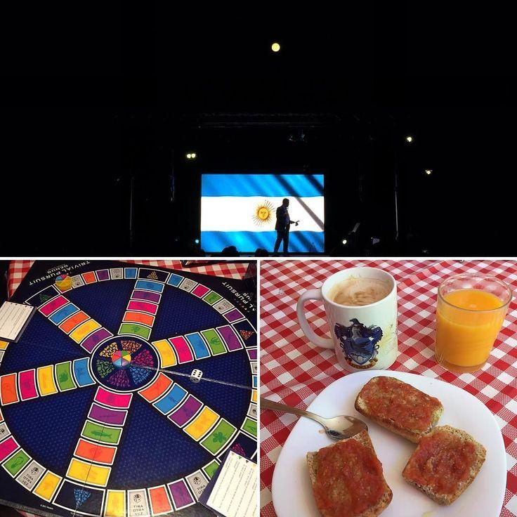 Ayer bajo una inmensa luna llena celebramos el CCI Aniversario de la Independencia Argentina. Después casi casi gano una partida al Trivial pero no terminamos. Y hoy sigo celebrando con un buen desayuno. #fullmoon #moon #9dejulio #trivial #nofilter