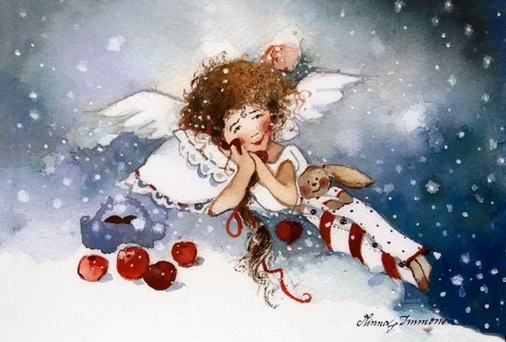 WINTER by MINNA L.IMMONEN - illustrator/painter.