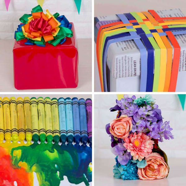 The Coolest Rainbow Gift Wrap Ideas Diy Christmas Presents Rainbow Gift Gift Wrapping