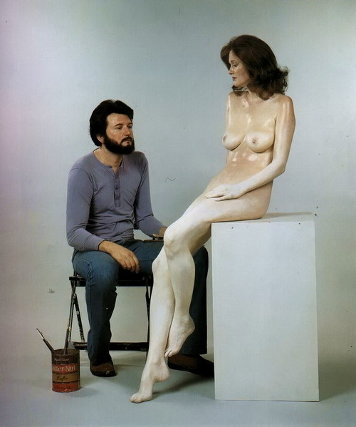 John De Andrea, The Artist and His Model (sculpture), 1960