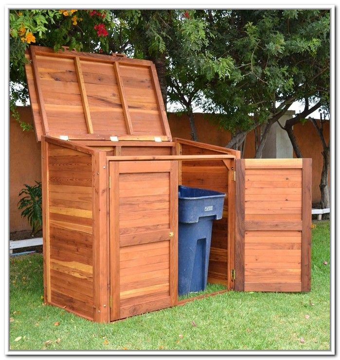 Outdoor Trash Bin Storage Plans
