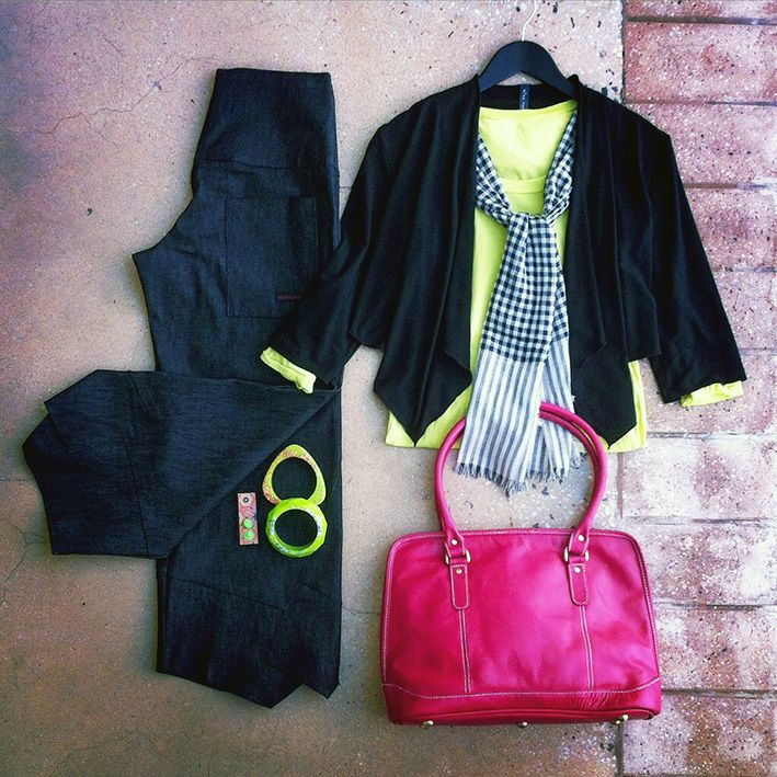 What's on for the weekend? Starashan Kite Pants, wYse Lifestyle Crop Jacket with pops of colour from Leather Cargo, Saints & Lovers and NannaWoo #aussiemade #naturalfibres #5iftyflatlay #flatlay