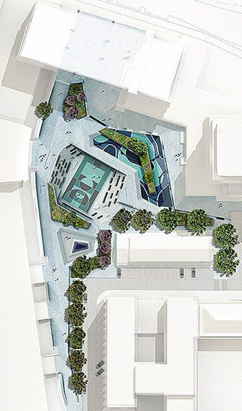 Watersquare in Rotterdam- De Urbanisten - visited this site in April - buzzing with activity