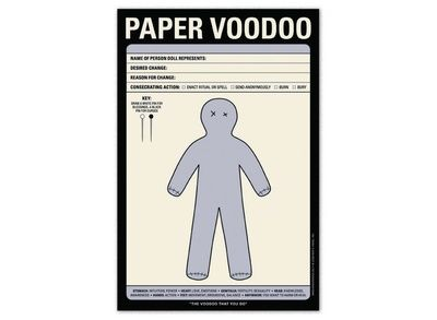 Paper Voodoo pad. I already have my first victim in mind.