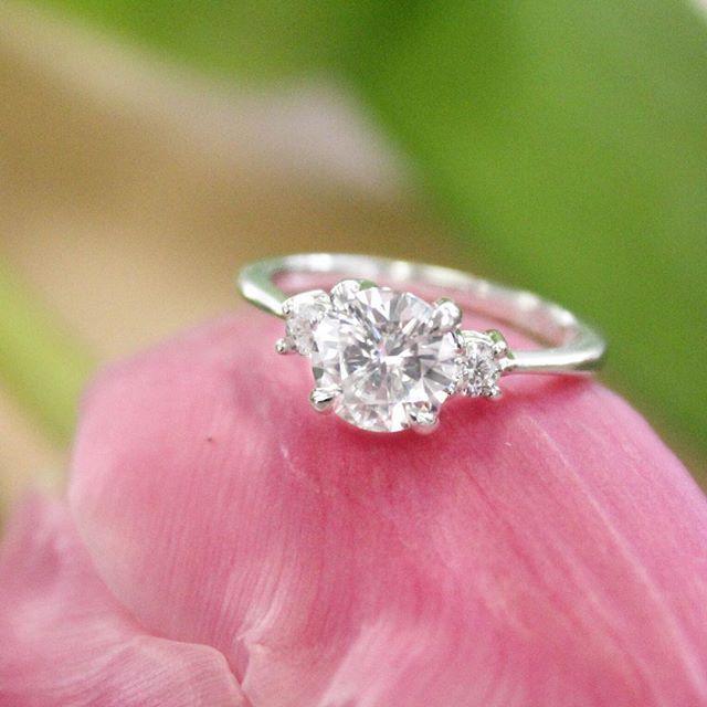 Our three stone Selene Diamond Ring. #BrilliantEarth