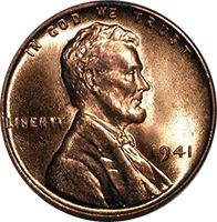 1941 S Wheat Penny