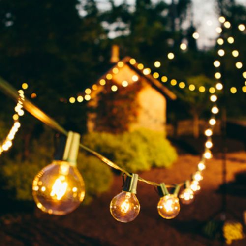 Beautiful 25 ft Outdoor string lighting Globe Patio Set 25 G40 Clear Bulbs 110V #GMYLighting