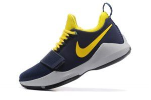 903aced5319c Men s Nike PG1 Paul George EP The Bait Navy Yellow White 878628 012  Basketball Shoes