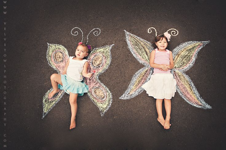 adorable family photo album Idea. Could also do bird wings, angel wings, bat wings, superhero cape