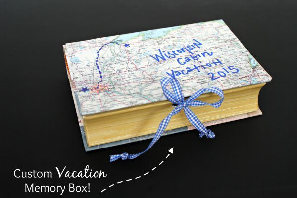 An fun and easy way to store vacation souvenirs and memories | View From The Fridge via Juggling Act Mama