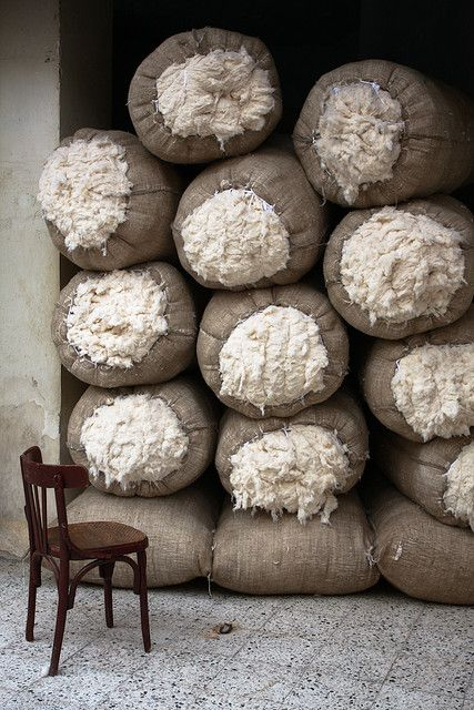 Bales of Egyptian Cotton | Cairo, Egypt by Thomas Leplus, via Flickr