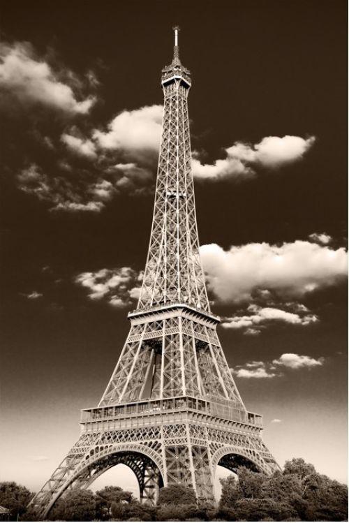 Retro style Eiffel Tower from $34.99 | www.wallartprints.com.au #VintagePhotography