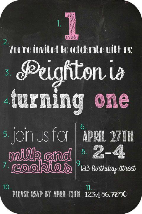 Chalkboard Birthday Invitation | Making Home Base