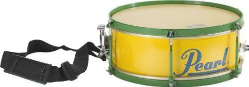 """Pearl Caixa 12"""" by Pearl. $89.00. Pearl's Caixa features a 12"""" x 4"""" wood shell, drum key tunable textured heads, and an SR-018 style throw-off. It can be played traditionally around the shoulder with the provided strap, or attached to a stand as an auxiliary snare to your drum kit. Not only will this Pearl drum catch your eye with its yellow, green, and blue Brazilian colors but it'll also cut through any style of music.. Save 47% Off!"""