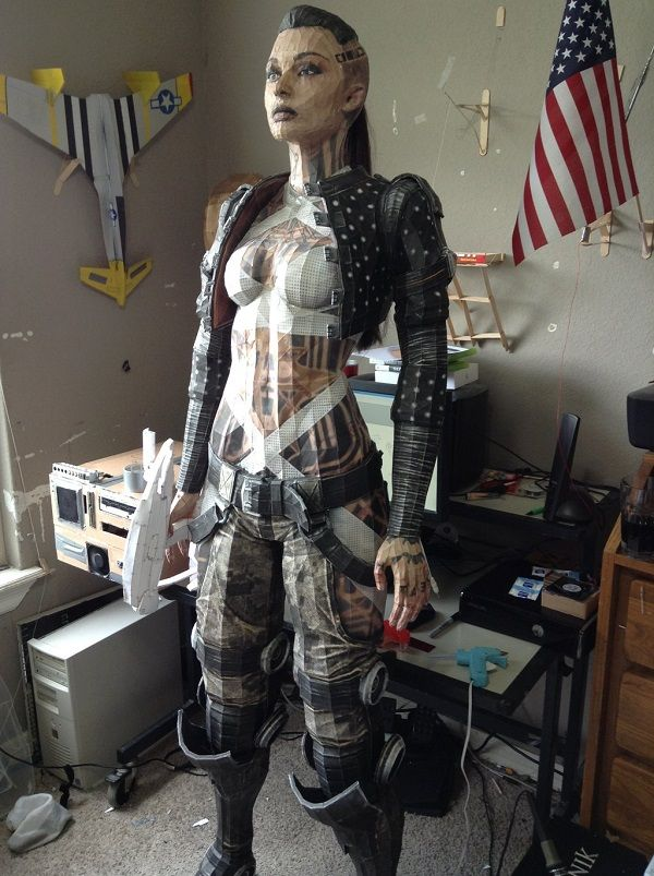 Check out this Life-Size Jack From Mass Effect Paper Statue. Impressive.