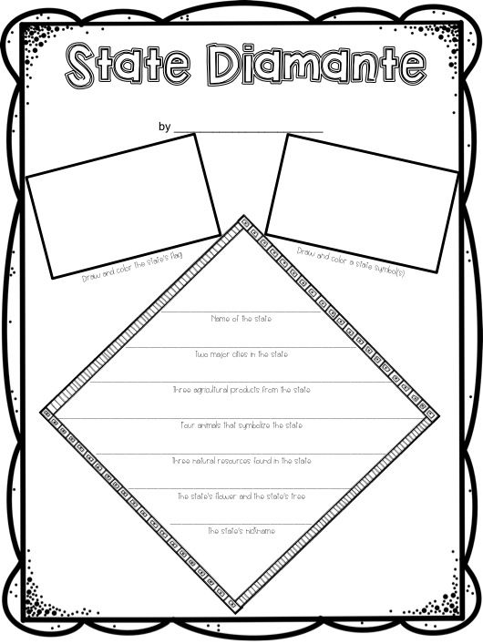State Poem- Diamante- Free I am celebrating South Carolina day with my kiddos and I made this for my grade level.  Why not share?  It can be used with any state. TPT Resource