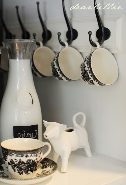 Hooks for coffee cups from @Jennifer Crotty Holmes - Dear Lillie