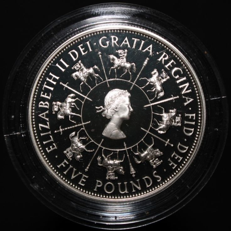 1993 UK Elizabeth II Coronation 40th Anniversary Silver