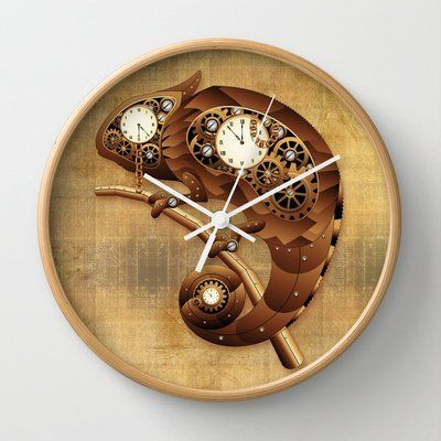 This Steampunk Chameleon Vintage Style Wall Clock Is One Of My Latest Sales  On Many Thanks To The Buyer! :) Steampunk Chameleon Vintage Style Wall Clock  By ...
