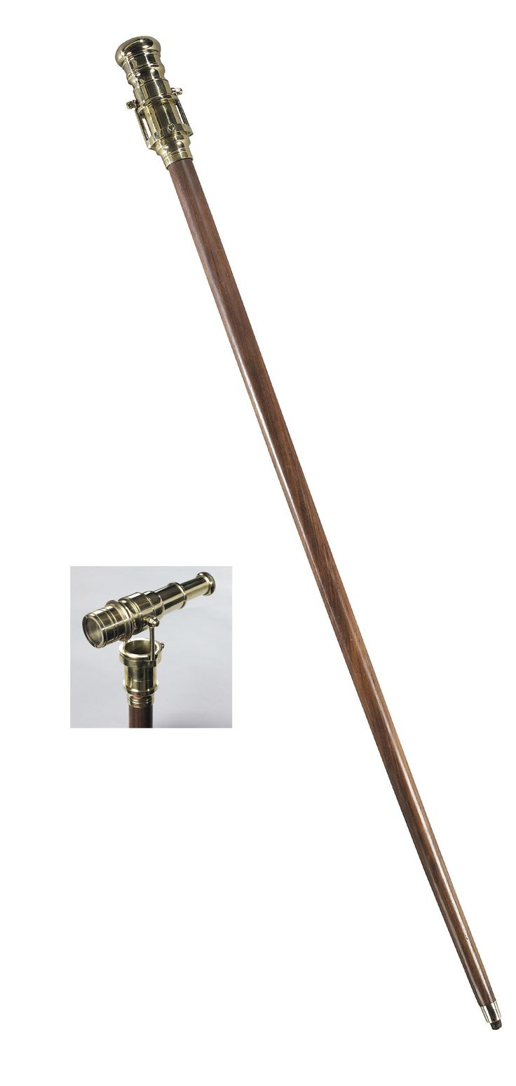 Features:  -Brown finish.  -Polished knob.  -Cleverly engineered mechanism.  Finish: -Brown.  Product Type: -Decorative Telescope.  Style: -Contemporary.  Subject: -Home decor and furniture.  Primary