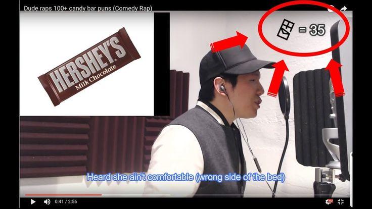 He got bars - Guy raps 100 chocolate puns