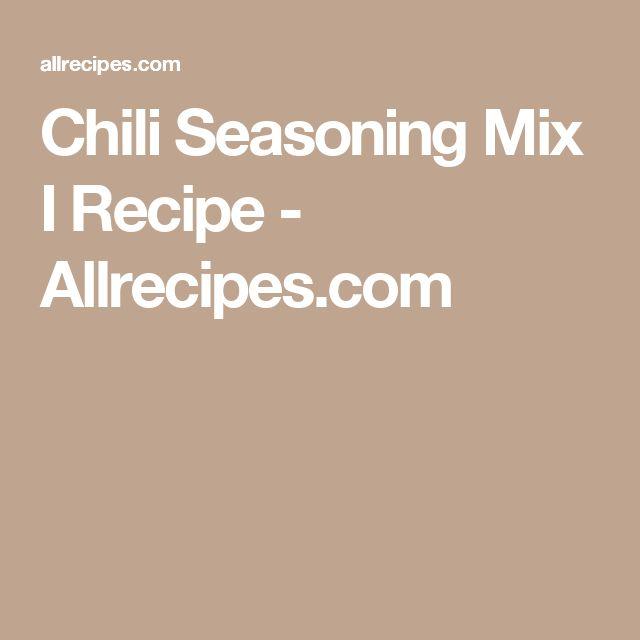 Chili Seasoning Mix I Recipe - Allrecipes.com