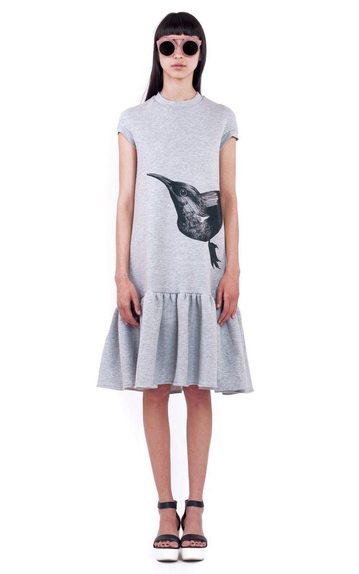 DAISY GREY DRESS FRONT