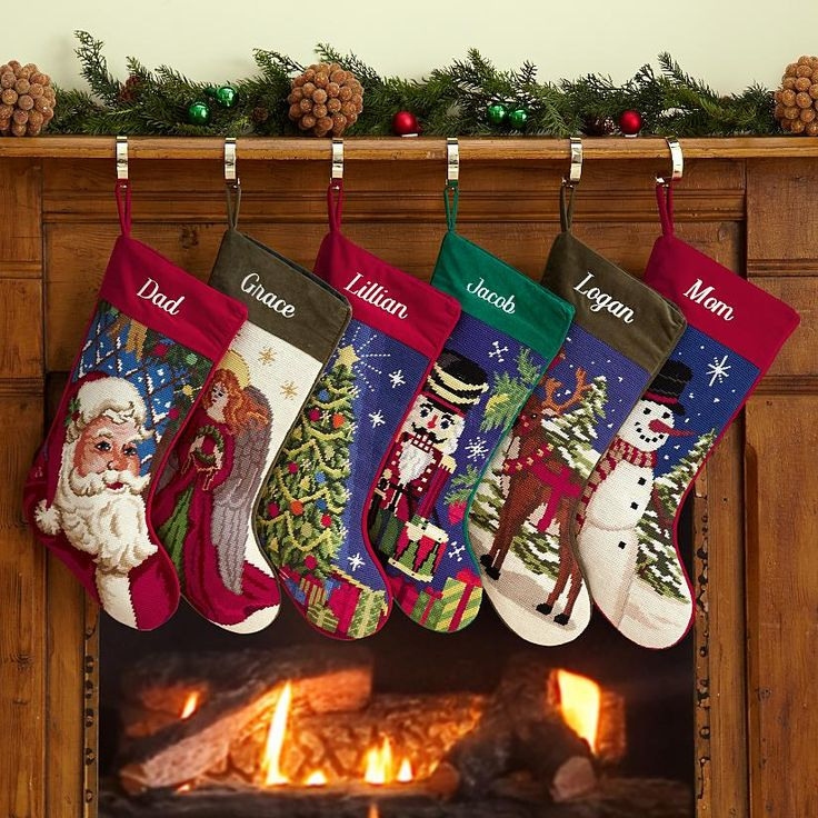 Needlepoint Stockings Christmas Stuff Pinterest
