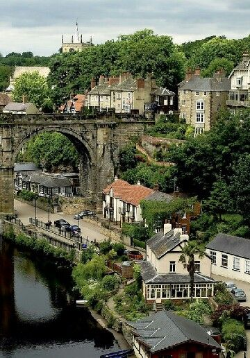Yorkshire, England The view of River Nidd from Knaresborough Castle                                                                                                                                                                                 More