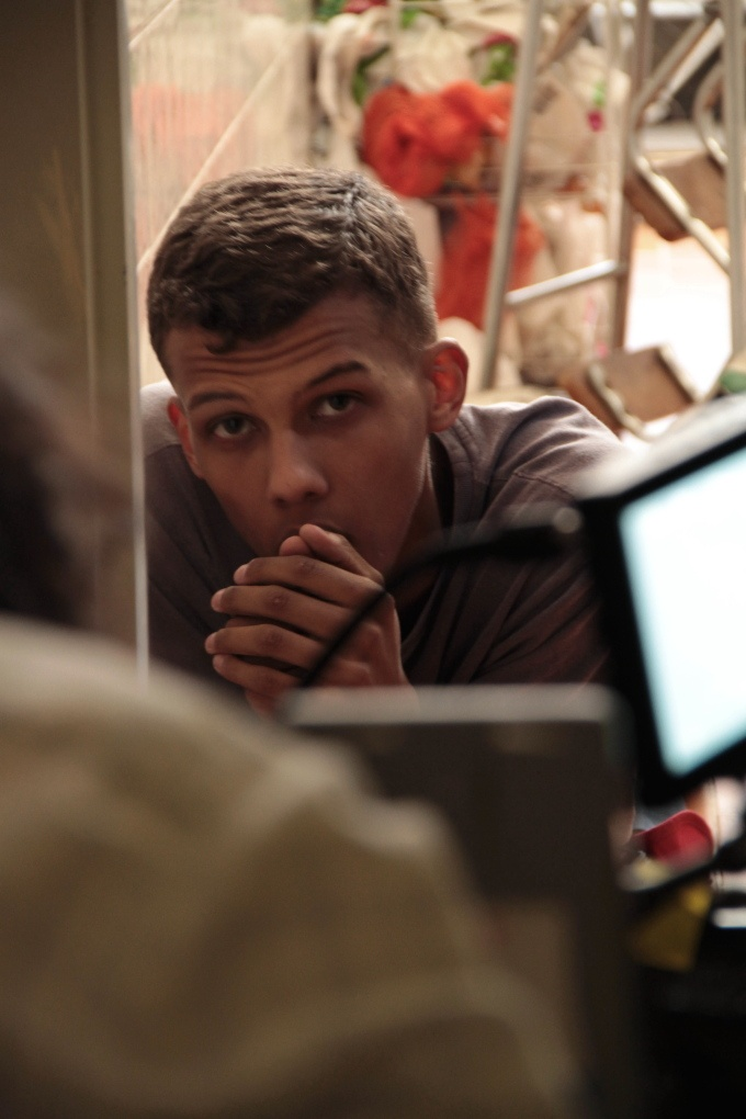 "Stromae on the set of his music video for ""TeQuiero""http://pinterest.com/search/?q=stromae#  huba hubba"