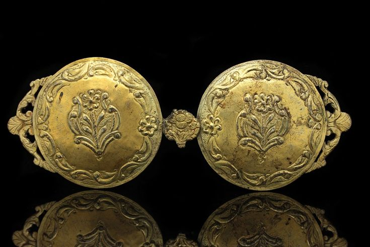 ANTIQUE SILVER GOLD OTTOMAN PLATED AMAZING FOR LADY ANATOLIAN BELT BUCKLE