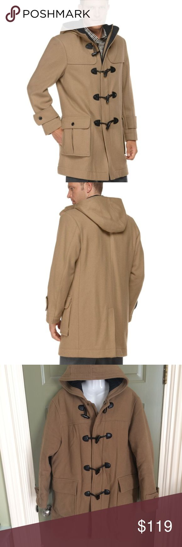 WOOL&THINSULATE JACKET COAT DUFFLE TOGGLE HOOD TAN This Coat Cost $269 after tax. ❤️QUALITY MADE JACKET.  ❤️GENUINE SOFT Lambswool from Italy  & Warm Thinsulate lining PRETTY ❤️EXCELLENT CONDITION ❤️SAVE $169 at this price!!  Fits Women's Extra large/xxl OR Men's Large Pretty Toggles,pockets,zipper,large hood.  -STYLISH &VERSATILE  -WARM WINTER COAT LL BEAN QUALITY   Tag:maxi long full length knee length fit and flare fit n flare warm fall winter 3/4 length anorak utility duffel brown…